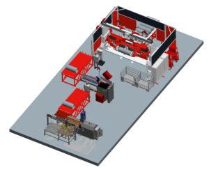 System-Layout Produktions-Anlage zum Boiler-Schweißen