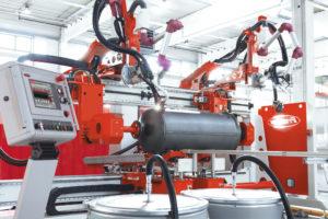 Rundnahtschweißsystem zum mechanisierten Schweißen von Boilern