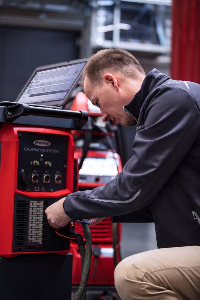 Calibration welding machines