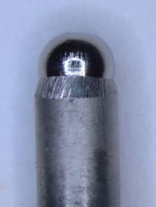 Cap—Rounded end of the electrode