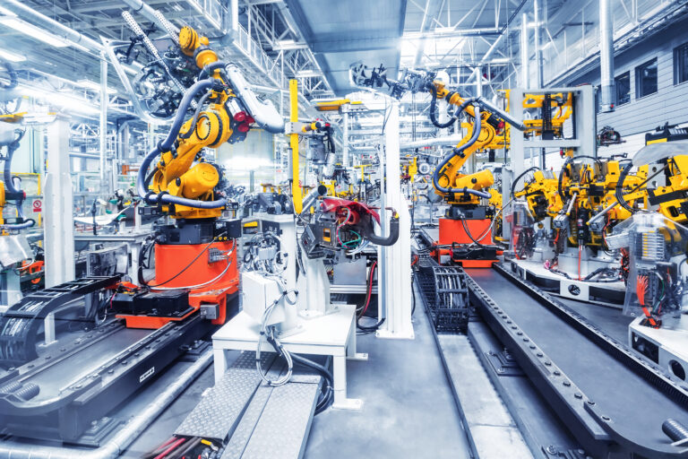 Roboter in der Automobilproduktion