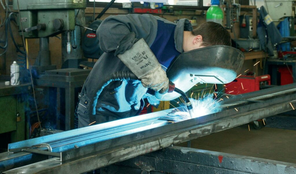 Welding steel and stainless steel