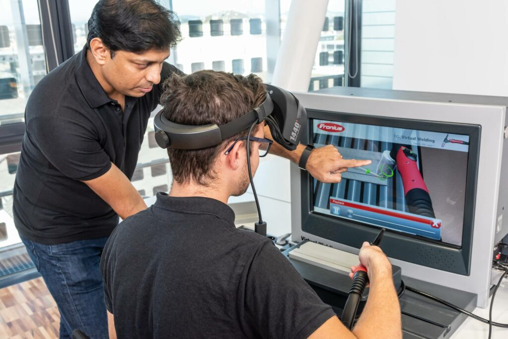 Learning virtual welding